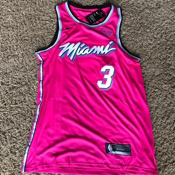 NBA Nike dwyane wade Jersey XL Miami Heat pink 470dbab41